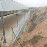 Vallado simple torsión con defensa de espino en Polvorines cuartel militar