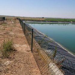 Vallado embalse regadío provincia Albacete Malla plastificada verde simple torsión